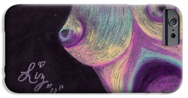 Diy Drawings iPhone Cases - Breast  iPhone Case by Elizabeth Cadena