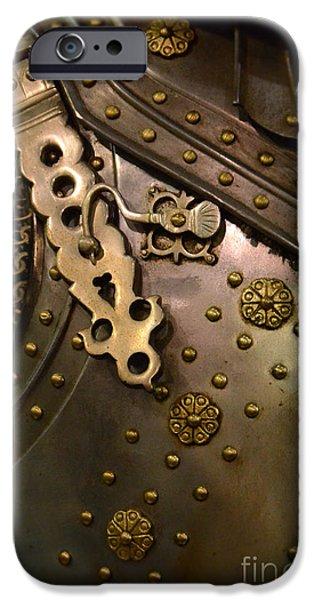 Breastplate iPhone Cases - Breastplate Armor iPhone Case by Jill Battaglia