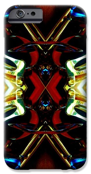 Socal Mixed Media iPhone Cases - Breastplate iPhone Case by Romy Galicia