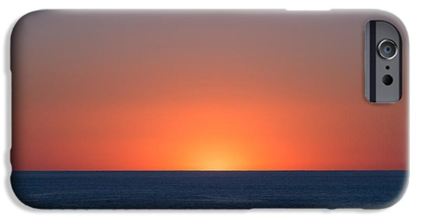 Ocean Sunset iPhone Cases - Breathe iPhone Case by Ana V  Ramirez