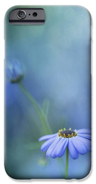 Daisy Bud iPhone Cases - Breathe Deeply iPhone Case by Priska Wettstein