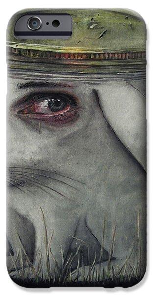 Breathing Paintings iPhone Cases - Breathing Holes iPhone Case by Joe Turk