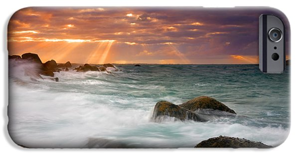 Wave Photographs iPhone Cases - Breathtaking iPhone Case by Mike  Dawson