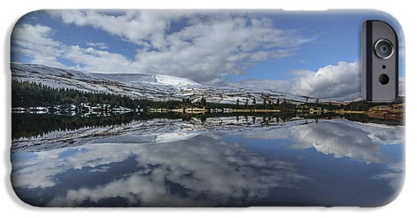 Beacon iPhone Cases - Brecon reflection iPhone Case by Chris Fletcher