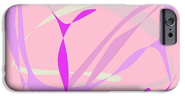 Abstract Forms iPhone Cases - Breeze Pink iPhone Case by Masaaki Kimura