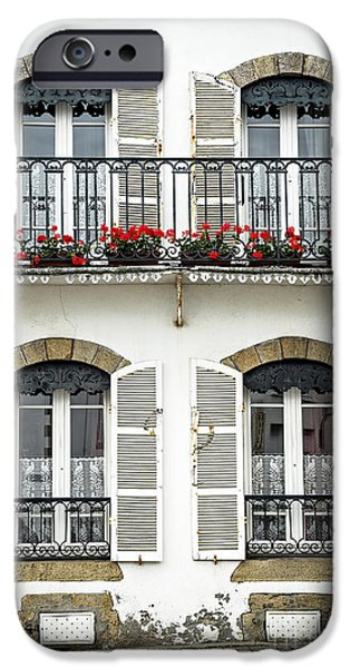 Balcony iPhone Cases - Breton house iPhone Case by Elena Elisseeva