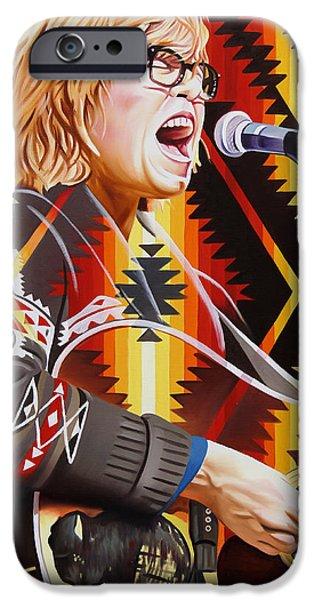 Morton iPhone Cases - Brett Dennen iPhone Case by Joshua Morton