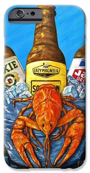 Crawfish iPhone Cases - Brew Bug iPhone Case by JoAnn Wheeler