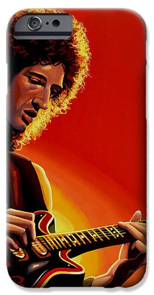 Brian May iPhone Case by Paul Meijering