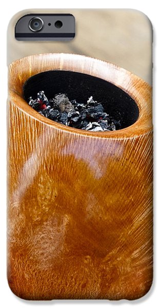 Enjoyment iPhone Cases - Briar Pipe Bowl iPhone Case by Frank Tschakert