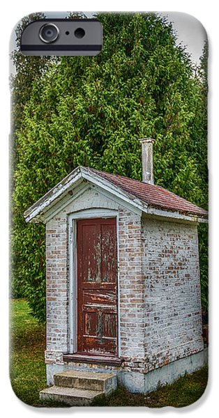 Shed iPhone Cases - Brick Outhouse iPhone Case by Paul Freidlund