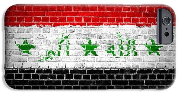 Iraq iPhone Cases - Brick Wall Iraq iPhone Case by Antony McAulay