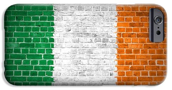 Built Structure Digital Art iPhone Cases - Brick Wall Ireland iPhone Case by Antony McAulay