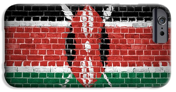 Recently Sold -  - Built Structure iPhone Cases - Brick Wall Kenya iPhone Case by Antony McAulay