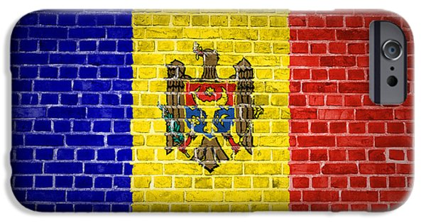 Built Structure Digital Art iPhone Cases - Brick Wall Moldova iPhone Case by Antony McAulay