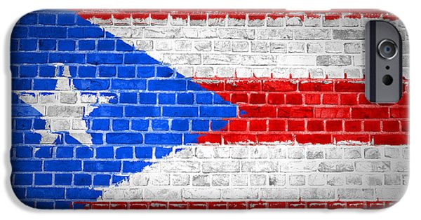 Recently Sold -  - Built Structure iPhone Cases - Brick Wall Puerto Rico iPhone Case by Antony McAulay