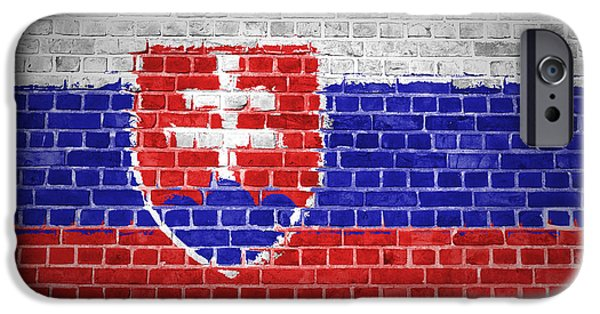Built Structure Digital Art iPhone Cases - Brick Wall Slovakia iPhone Case by Antony McAulay