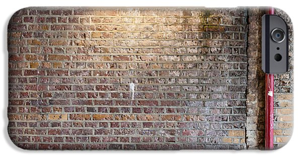 Dirty iPhone Cases - Brick Wall with Strip Light  iPhone Case by Chay Bewley