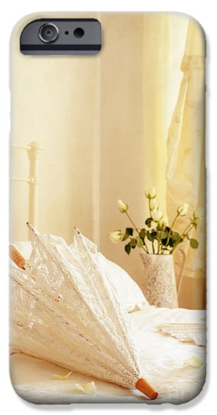 Bride iPhone Cases - Bridal Parasol iPhone Case by Amanda And Christopher Elwell