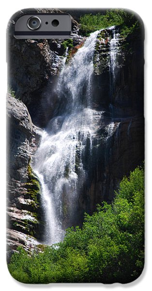 Becky Photographs iPhone Cases - #bridalveilfalls iPhone Case by Becky Furgason