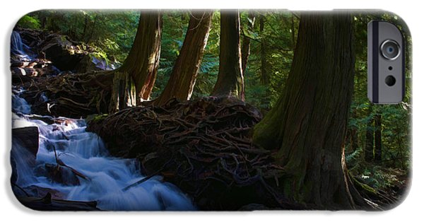 Blackstone River iPhone Cases - Bridal Veil Falls I iPhone Case by Jordan Blackstone