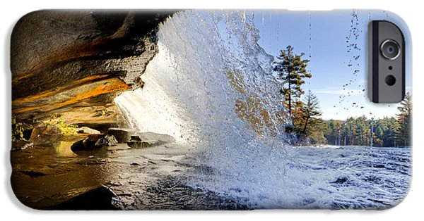 Veiled iPhone Cases - Bridal Veil Falls in Dupont State Forest NC 2 iPhone Case by Dustin K Ryan