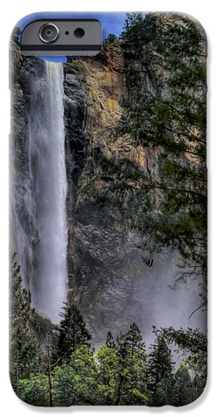 Bill Gallagher Photographs iPhone Cases - Bridalveil Falls iPhone Case by Bill Gallagher