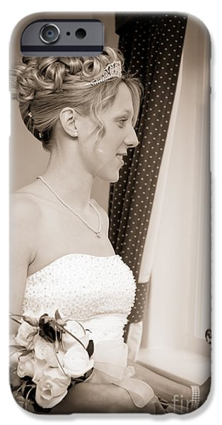 Bride iPhone Cases - Bride Awaits Her Groom iPhone Case by Amanda And Christopher Elwell