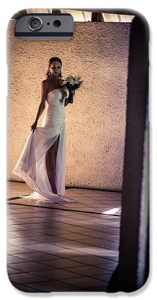 Bride. In Color iPhone Case by Jenny Rainbow