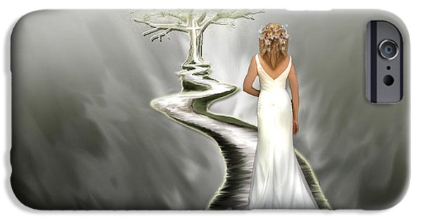 Pages Of Life iPhone Cases - Bride of Christ iPhone Case by Jennifer Page