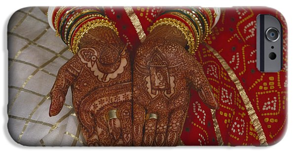 Henna iPhone Cases - Brides Hands India iPhone Case by Dhiraj Chawda