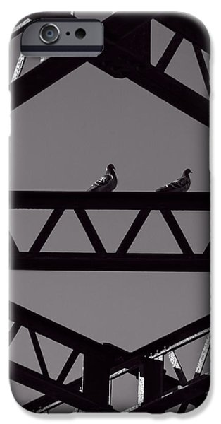 Pigeon iPhone Cases - Bridge Abstract iPhone Case by Bob Orsillo