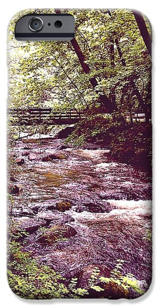 Wilderness Pyrography iPhone Cases - Bridge Accross Time iPhone Case by Andrew  Stoffel