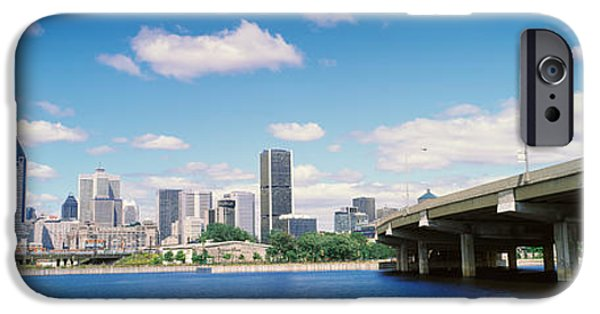 Connection iPhone Cases - Bridge Across A Canal, Lachine Canal iPhone Case by Panoramic Images