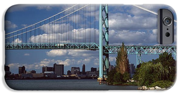 Connection iPhone Cases - Bridge Across A River, Ambassador iPhone Case by Panoramic Images