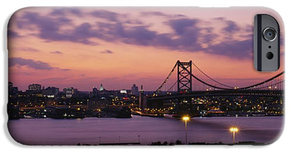 Franklin iPhone Cases - Bridge Across A River, Ben Franklin iPhone Case by Panoramic Images