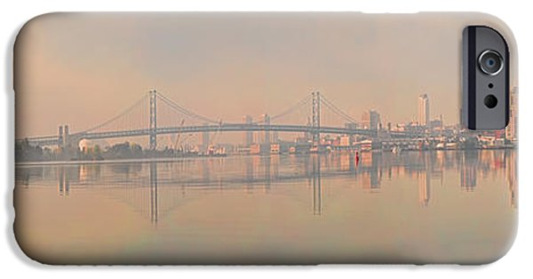 Benjamin Franklin iPhone Cases - Bridge Across A River, Benjamin iPhone Case by Panoramic Images