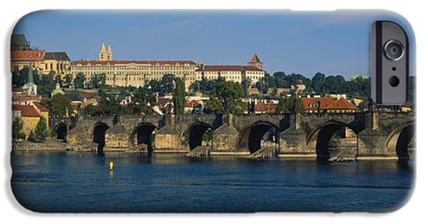 Charles River iPhone Cases - Bridge Across A River, Charles Bridge iPhone Case by Panoramic Images