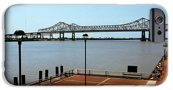 Connection iPhone Cases - Bridge Across A River, Crescent City iPhone Case by Panoramic Images