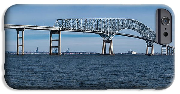 Connection iPhone Cases - Bridge Across A River, Francis Scott iPhone Case by Panoramic Images