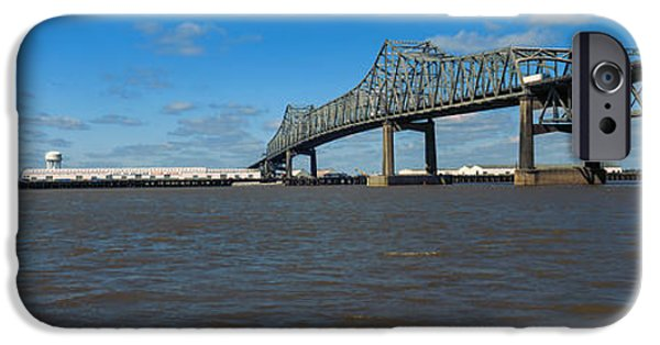Baton Rouge iPhone Cases - Bridge Across A River, Horace Wilkinson iPhone Case by Panoramic Images