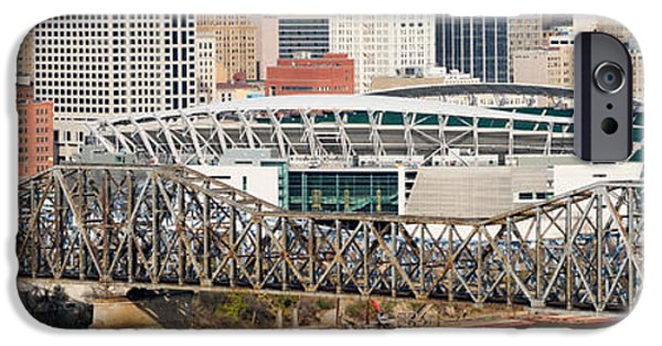 Connection iPhone Cases - Bridge Across A River, Paul Brown iPhone Case by Panoramic Images