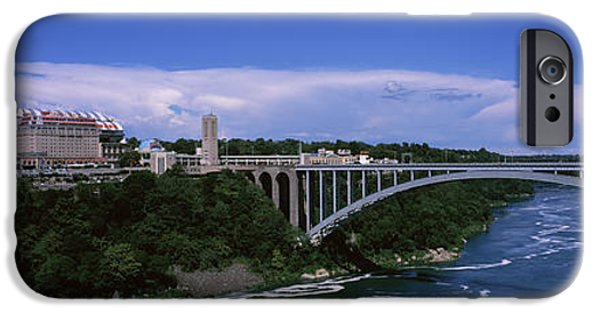 Niagara Falls iPhone Cases - Bridge Across A River, Rainbow Bridge iPhone Case by Panoramic Images