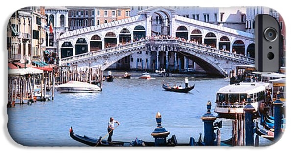 Locations iPhone Cases - Bridge Across A River, Rialto Bridge iPhone Case by Panoramic Images