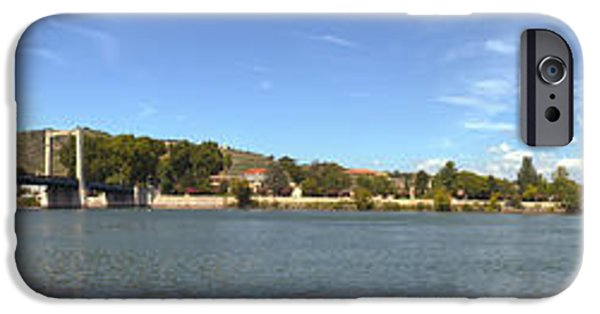 Rhone Alpes iPhone Cases - Bridge Across A River, Tain-lhermitage iPhone Case by Panoramic Images