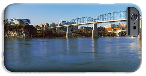Connection iPhone Cases - Bridge Across A River, Walnut Street iPhone Case by Panoramic Images
