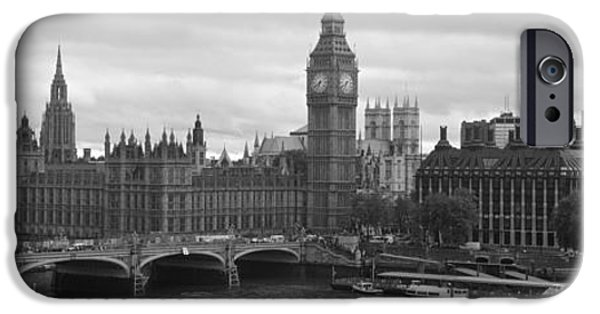Connection iPhone Cases - Bridge Across A River, Westminster iPhone Case by Panoramic Images