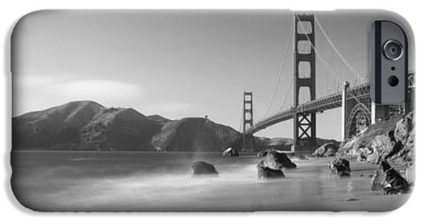 Coastal Places iPhone Cases - Bridge Across A Sea, Golden Gate iPhone Case by Panoramic Images