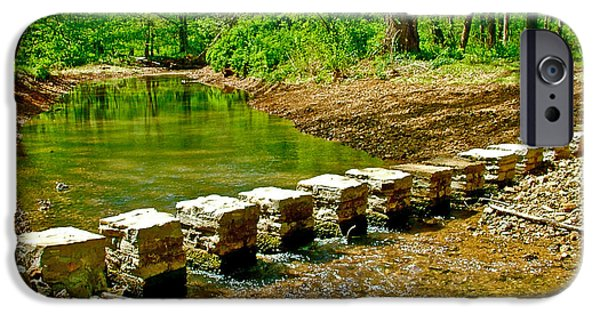 Natchez Trace Parkway iPhone Cases - Bridge across Colbert Creek at Mile 330 of Natchez Trace Parkway-Alabama iPhone Case by Ruth Hager
