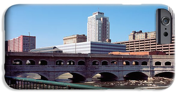 Connection iPhone Cases - Bridge Across The Genesee River iPhone Case by Panoramic Images